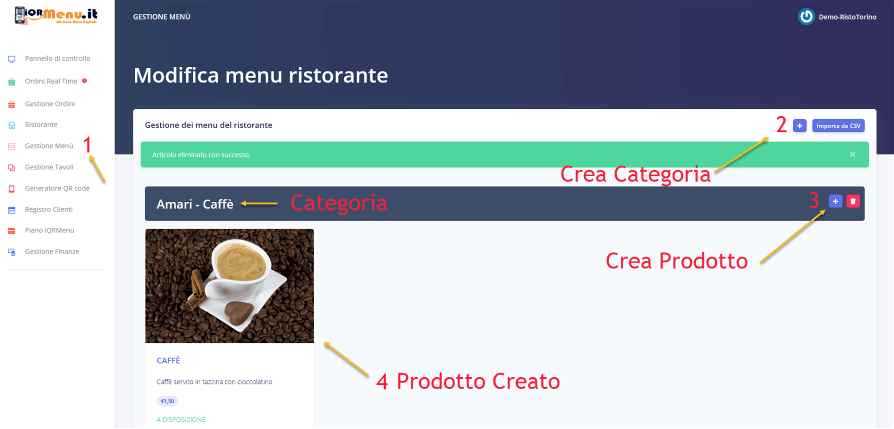 iQRMenu.it Menu digitale QR code per ristoranti
